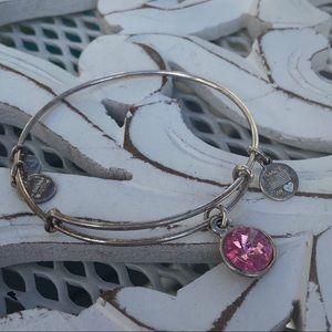 Alex & Ani Pink Gem Bracelet
